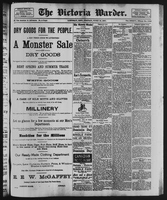 Victoria Warder (Lindsay, ONT), 26 Jun 1891