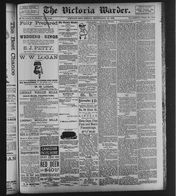 Victoria Warder (Lindsay, ONT), 29 Sep 1893