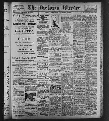 Victoria Warder (Lindsay, ONT), 6 Oct 1893