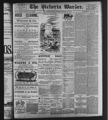 Victoria Warder (Lindsay, ONT), 16 Mar 1894