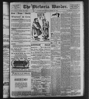 Victoria Warder (Lindsay, ONT), 23 Mar 1894
