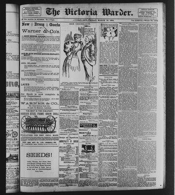 Victoria Warder (Lindsay, ONT), 30 Mar 1894