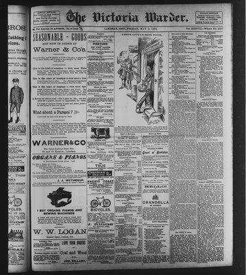 Victoria Warder (Lindsay, ONT), 4 May 1894