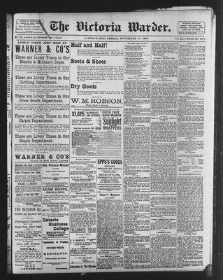 Victoria Warder (Lindsay, ONT), 27 Nov 1896