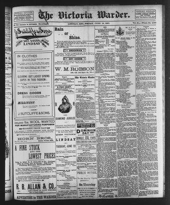 Victoria Warder (Lindsay, ONT), 18 Jun 1897