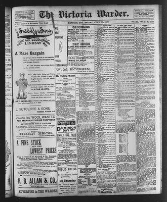 Victoria Warder (Lindsay, ONT), 25 Jun 1897