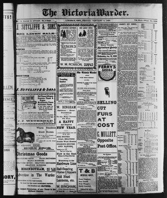 Victoria Warder (Lindsay, ONT), 6 Jan 1899