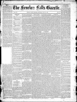 Fenelon Falls Gazette, 31 Jul 1880