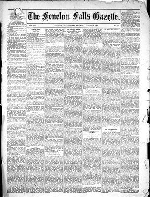 Fenelon Falls Gazette, 28 Aug 1880