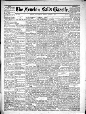 Fenelon Falls Gazette, 23 Oct 1880