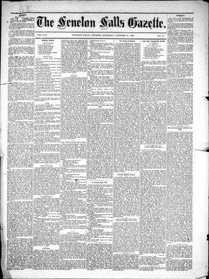 Fenelon Falls Gazette, 30 Oct 1880
