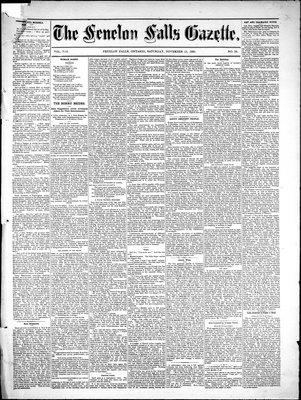 Fenelon Falls Gazette, 13 Nov 1880