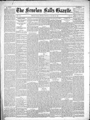 Fenelon Falls Gazette, 22 Jan 1881