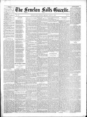 Fenelon Falls Gazette, 26 Mar 1881