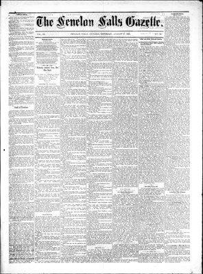 Fenelon Falls Gazette, 27 Aug 1881