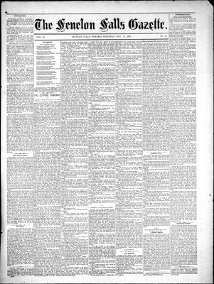 Fenelon Falls Gazette, 11 Nov 1882