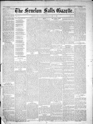 Fenelon Falls Gazette, 13 Jan 1883
