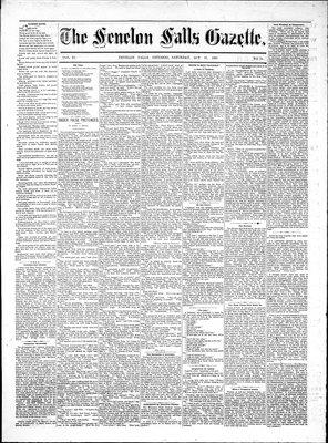 Fenelon Falls Gazette, 20 Oct 1883