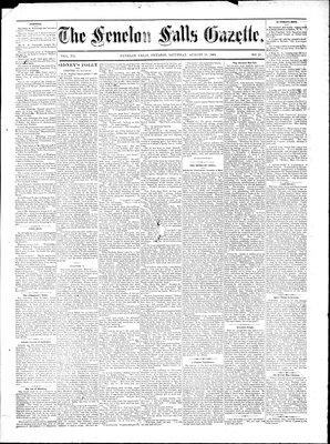 Fenelon Falls Gazette, 16 Aug 1884