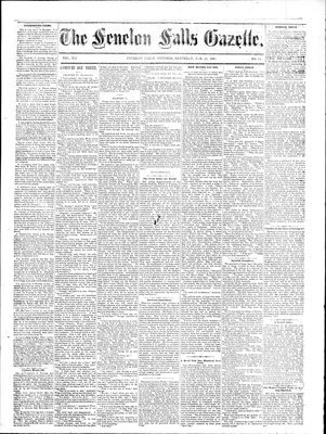 Fenelon Falls Gazette, 14 Feb 1885