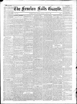 Fenelon Falls Gazette, 7 Mar 1885