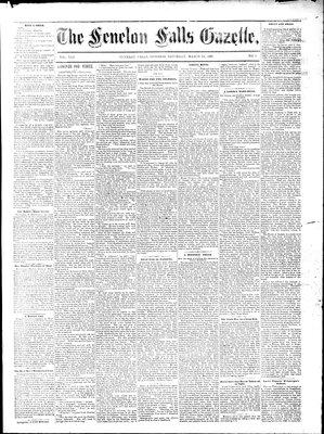 Fenelon Falls Gazette, 14 Mar 1885