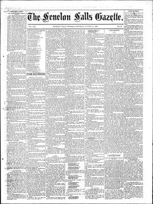 Fenelon Falls Gazette, 15 Aug 1885