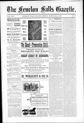 Fenelon Falls Gazette, 22 Mar 1889