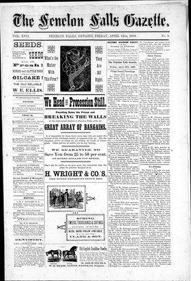 Fenelon Falls Gazette, 12 Apr 1889