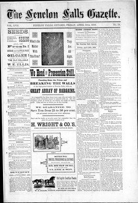 Fenelon Falls Gazette, 19 Apr 1889