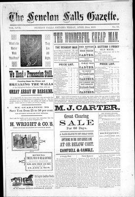 Fenelon Falls Gazette, 26 Apr 1889