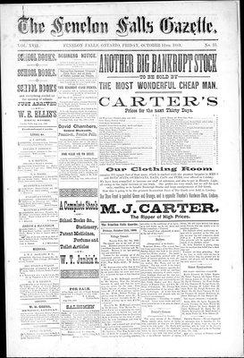 Fenelon Falls Gazette, 11 Oct 1889