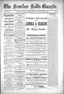 Fenelon Falls Gazette, 23 Jan 1891