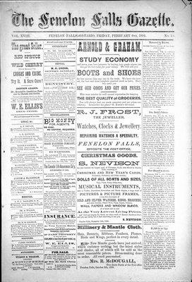 Fenelon Falls Gazette, 6 Feb 1891