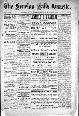 Fenelon Falls Gazette, 6 Mar 1891