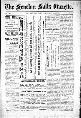Fenelon Falls Gazette, 29 May 1891