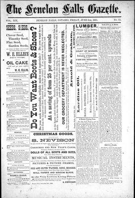 Fenelon Falls Gazette, 5 Jun 1891