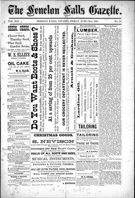 Fenelon Falls Gazette, 12 Jun 1891