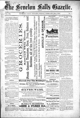 Fenelon Falls Gazette, 26 Feb 1892