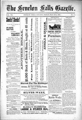Fenelon Falls Gazette, 27 May 1892