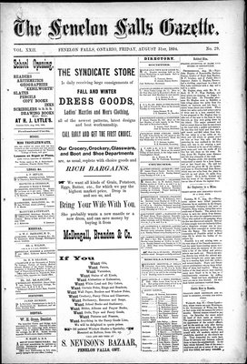 Fenelon Falls Gazette, 31 Aug 1894