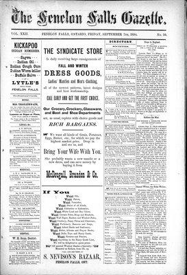 Fenelon Falls Gazette, 7 Sep 1894