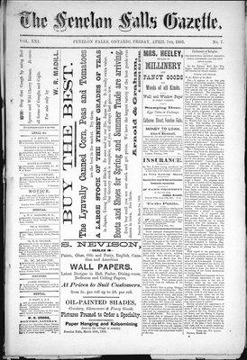 Fenelon Falls Gazette, 7 Apr 1893