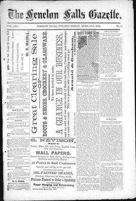 Fenelon Falls Gazette, 14 Apr 1893
