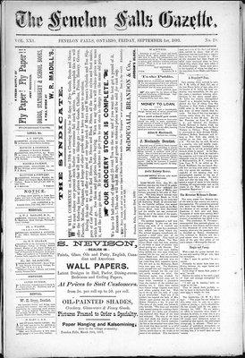 Fenelon Falls Gazette, 1 Sep 1893