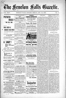 Fenelon Falls Gazette, 7 Aug 1896