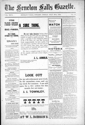 Fenelon Falls Gazette, 29 Jul 1898