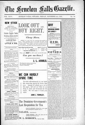 Fenelon Falls Gazette, 4 Nov 1898
