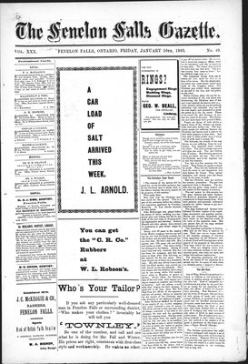 Fenelon Falls Gazette, 16 Jan 1903
