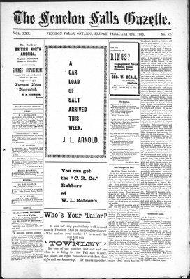 Fenelon Falls Gazette, 6 Feb 1903